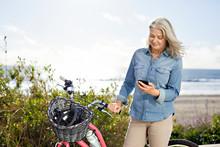 Senior Woman Using Mobile Phon...