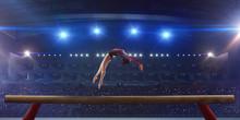 Female Gymnast On Professional...