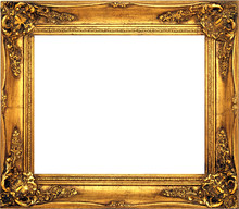 Antique Isolated Golden Frame ...