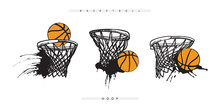 Vector Basketball Hoop With Th...