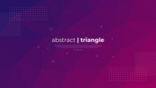 Abstract Modern Graphic Element. Dynamically Colored Forms And Triangles. Gradient Abstract Banner With Triangle Mosaic Shapes. Template For The Design Of A Website Landing Page Or Background.