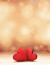 Two Hearts. Valentines Day Con...