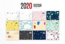 2020 Calendar Template. Vector...