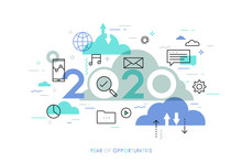 Infographic Concept 2020 Year ...