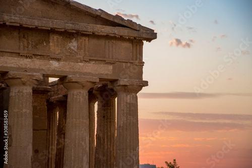 Templo en Sicilia Canvas Print