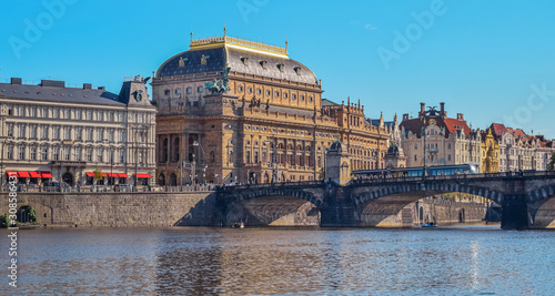 View of the National Theater in Prague, Czech Republic Wallpaper Mural