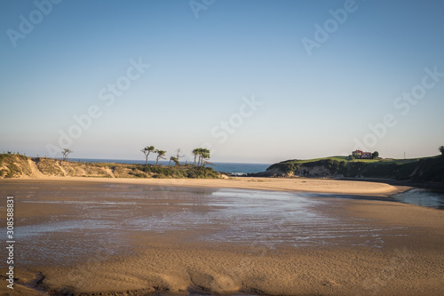 Cuadros en Lienzo Oyambre Natural Park and Oyambre Beach, Protected coastal & rural area