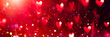 canvas print picture Valentine's Day red Background. Holiday Blinking Abstract Valentine Backdrop with Glowing Hearts. Heart Shape Bokeh. Love concept. Valentines art vivid design. Romantic banner