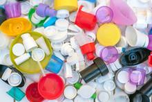 Plastic Caps Of Various Colors...