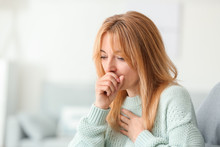 Beautiful Mature Woman Ill With Flu At Home