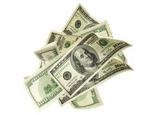 Us Dollar. American Money, Fal...