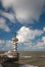 Bungee Tower At Pier Of Scheve...