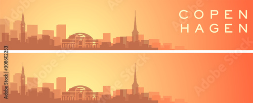 Copenhagen Beautiful Skyline Scenery Banner Wallpaper Mural