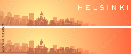 Canvas Print Helsinki Beautiful Skyline Scenery Banner