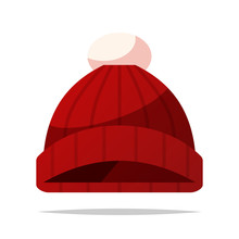 Knitted Hat Vector Isolated Illustration