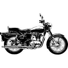 Motorcycle Isolated On White Background