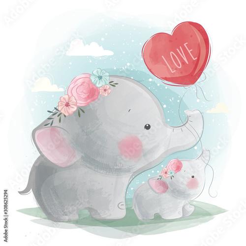 slodka-mamusia-i-sloniatko