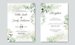 beautiful and elegant floral wedding invitation