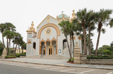 Memorial Presbyterian Church, A Historic Church Built In 1889 By Industrialist Henry Morrison Flagler In Memory Of His Daughter Jennie Benedict.  The Church Is Located In St. Augustine, Florida, USA.