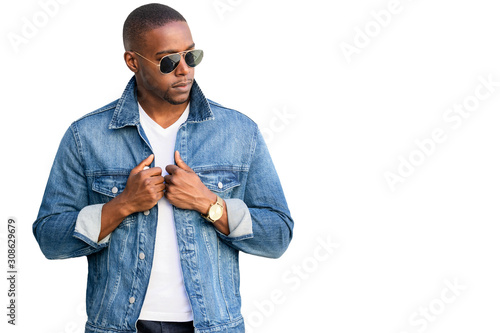 African american man, cool hip stylish and trendy casual attire, isolated on whi Wallpaper Mural