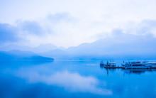 Boat On The Sun Moon Lake