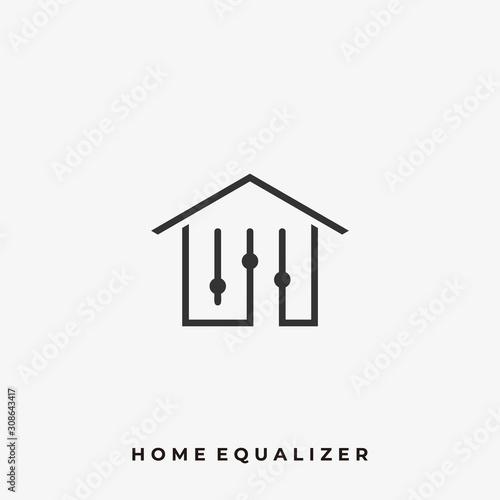 Home Equalizer Illustration Vector Template Canvas Print