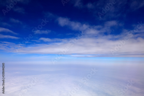 High altitude white clouds