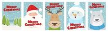 Set Of Cute Christmas Illustra...