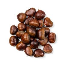 Edible Sweet Chestnuts, Healthy Autumn And Christmas Food