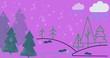 Leinwanddruck Bild - Snow. Winter. Blue background. Card. Christmas. New Year.