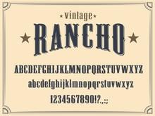 Wild West Western Alphabet Fon...