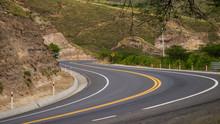 Winding Road Going Thru The Mountains Of Ecuador