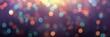 Leinwandbild Motiv Confetti colorful on dark purple banner. Empty background. Sparkles fly. Defocused texture. Abstract template. Blurred pattern. Night party bokeh.