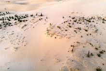 White Sand Dunes Top View, Aer...