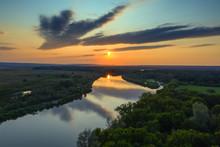 Aerial View Landscape Of Sunri...