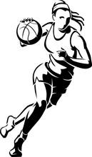 "Women""s Basketball Abstract Li..."