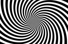 A Black And White Spiral Optic...