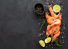 Shrimps Or Prawns Served With ...