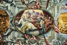 San Filippo Neri Vede La Madonna, Di Tornioli, Affresco In Chiesa Nuova, Roma