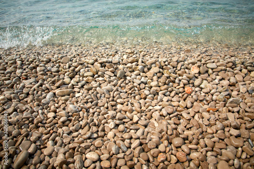 Cuadros en Lienzo pebbles on the beach in the Montenegro