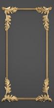 Stucco Molding, Gold Frame