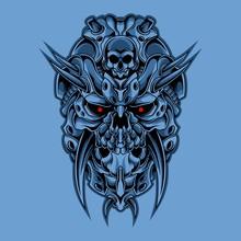 Cyber Skull Illustration