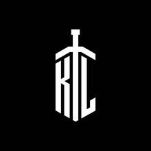 KL Logo Monogram With Sword El...