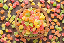 Candied Fruit, Colorful Cubes ...