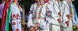 Leinwanddruck Bild - Ukrainian national clothing - embroideries