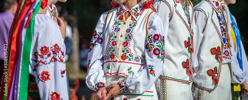 Fototapeta Ukrainian national clothing - embroideries obraz