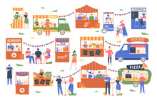 Street Food Marketplace. Outdo...