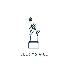 Liberty Statue Concept Line Ic...