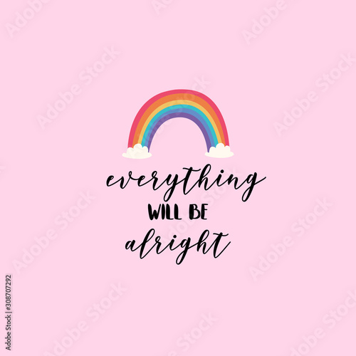Cuadros en Lienzo Everything will be alright