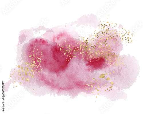 Watercolor abstract splash Color painting texture Canvas Print